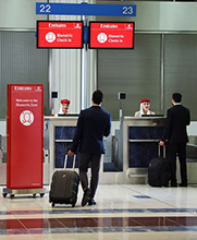 Emirates introduceert 'biometrische paden' op Dubai International Airport
